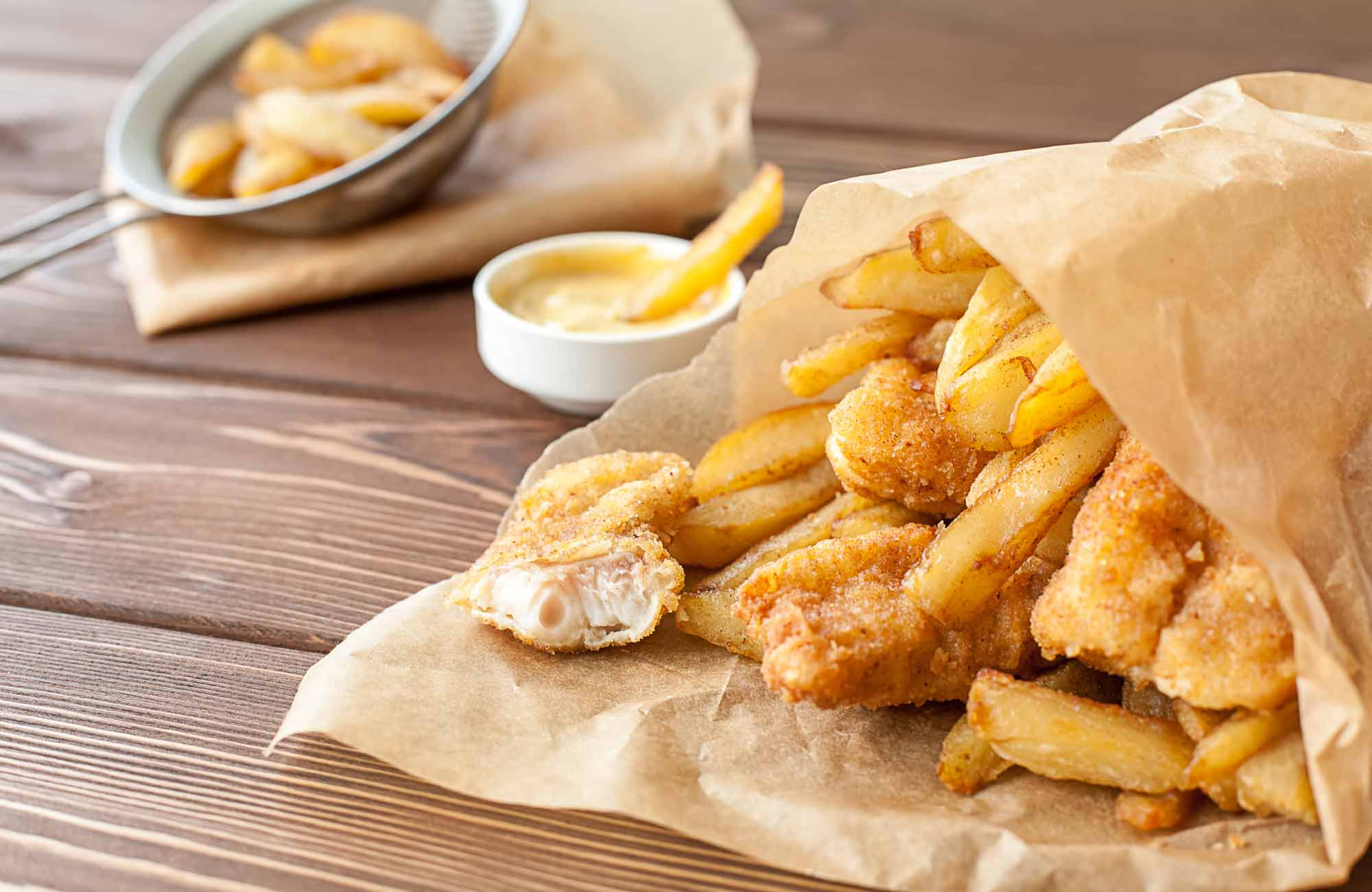 Fish-and-chips till lunch