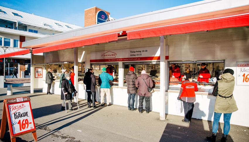 Kö i Fiskhusets butik i Stenungsund