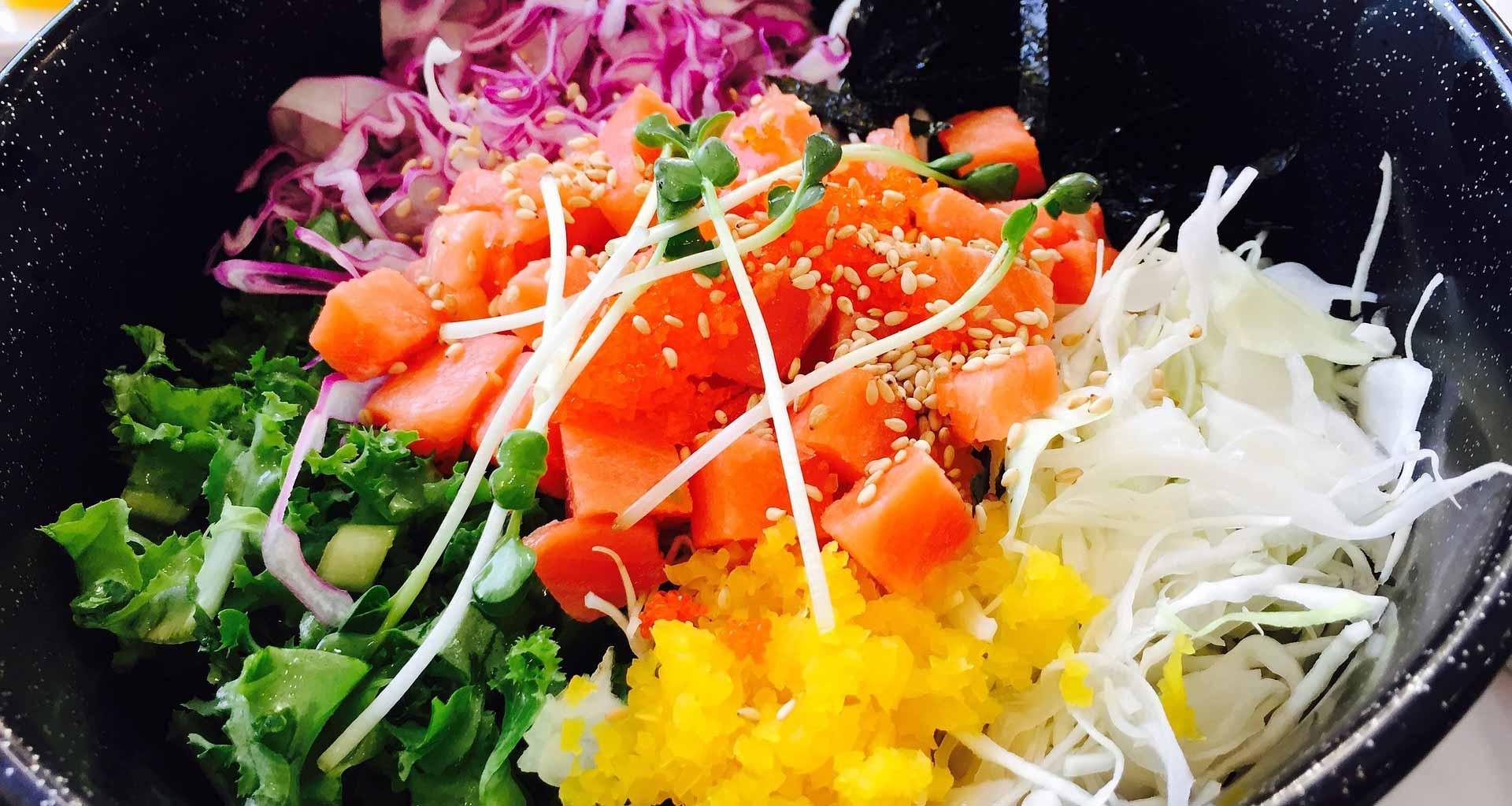 fräsch sallad med salma lax