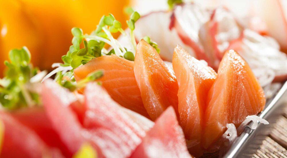 sashimi på lax