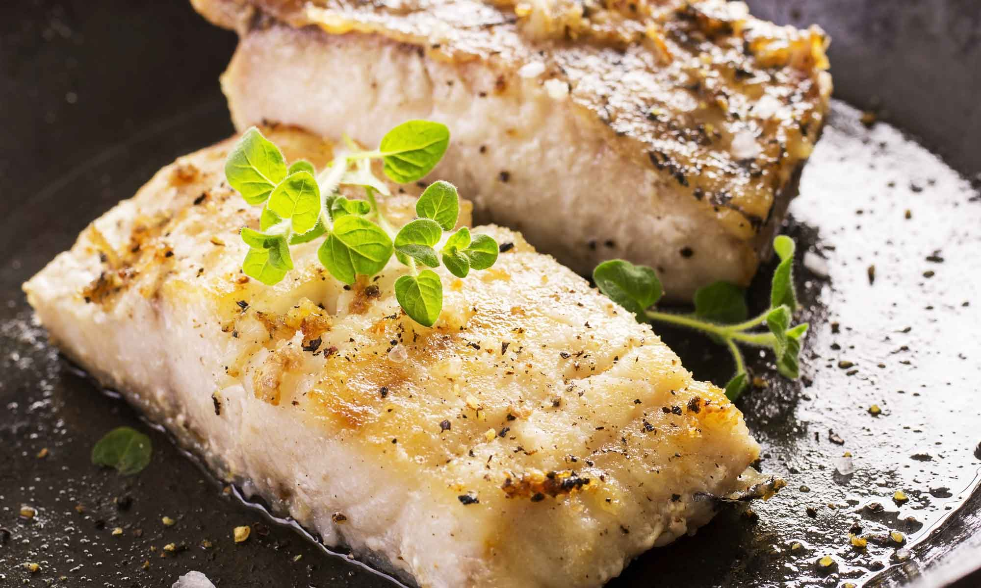 perfekt stekt fisk