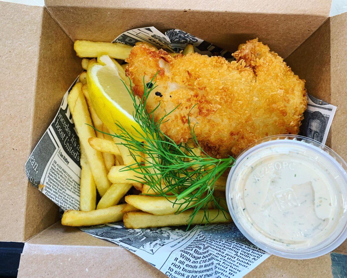 fich and chips - lunch på Fiskhuset